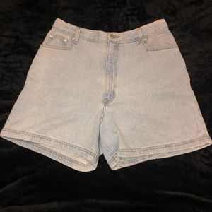 Vintage LA Blues high waist denim jean shorts